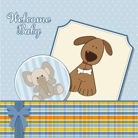 baby boy announcement card  Stock Vector - 11358662
