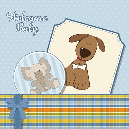 baby boy announcement card  Stock Vector - 11358662