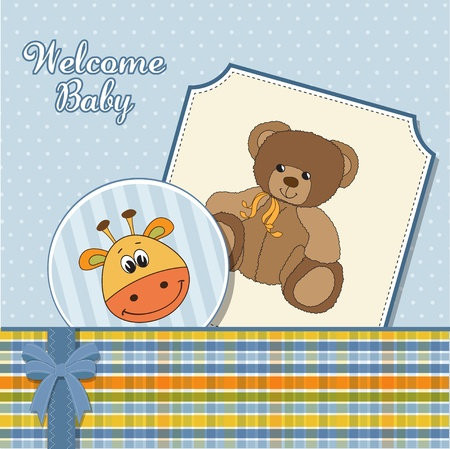 baby boy announcement card  Illustration