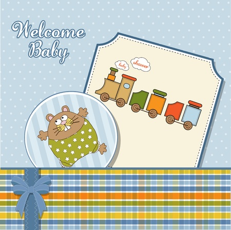 moments: baby boy announcement card  Illustration