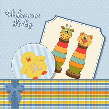 baby boy announcement card  Vector