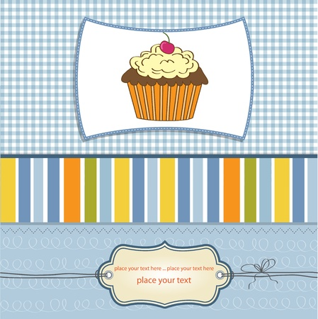 Birthday cupcake  Stock Vector - 11358689