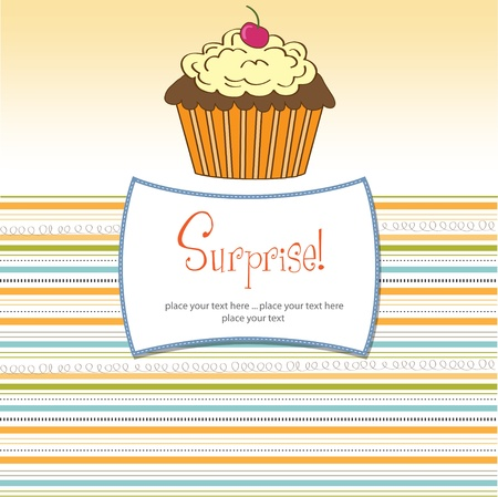 Birthday cupcake Stock Vector - 11358507