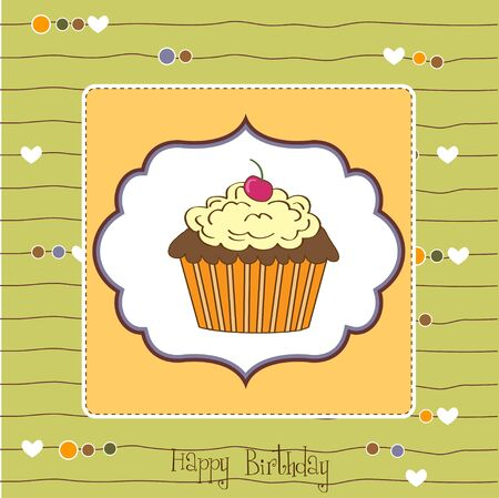 Birthday cupcake Stock Vector - 11358306