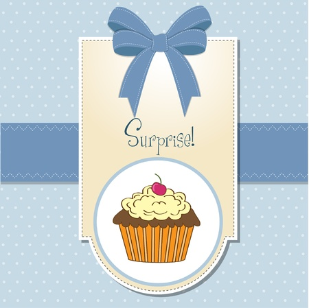 muffin: Birthday cupcake