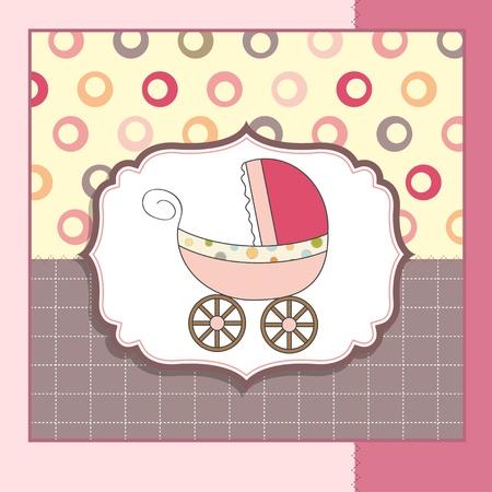 baby card with pram