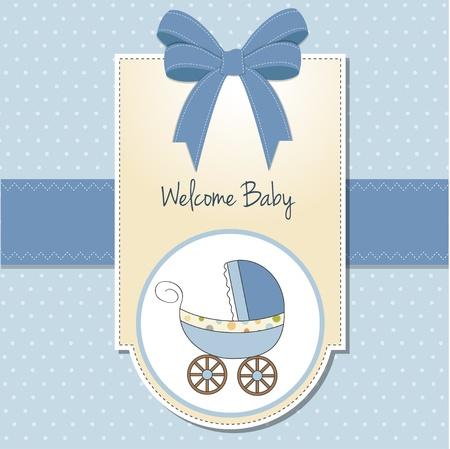 cochecito de bebe: beb� tarjeta con cochecito de ni�o