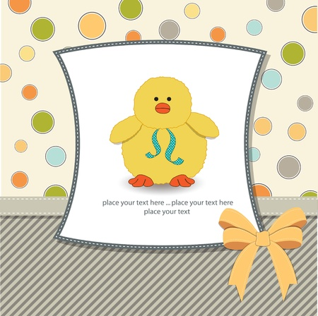 moments: new baby card with little duck