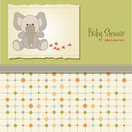 childish: new baby card with elephant