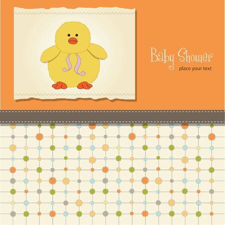 vintage baby: new baby card with little duck