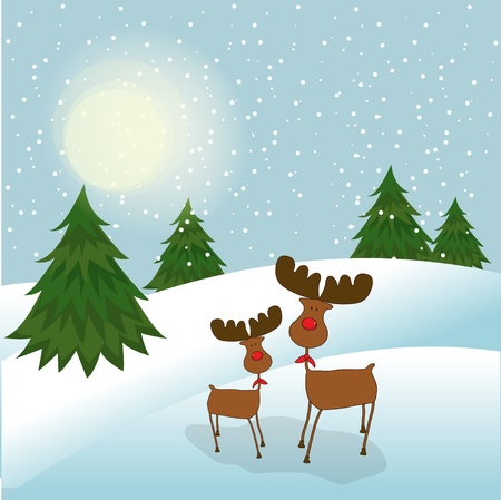 Christmas greeting card Stock Vector - 11358785