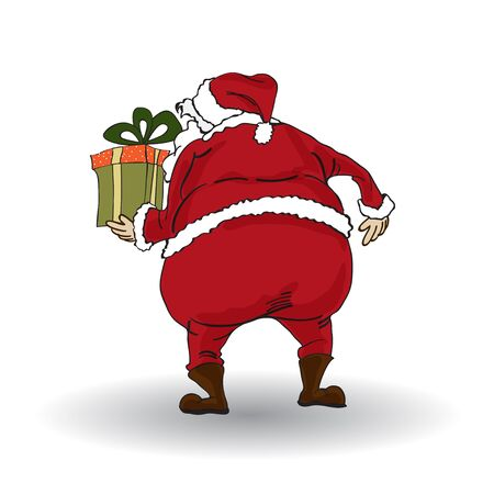 Santa isolated on white backgound  Vector