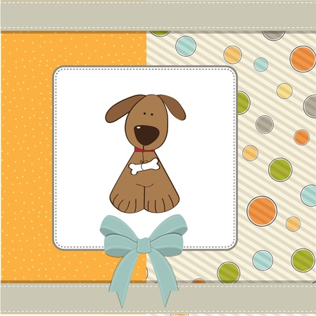 infants: greeting card with small dog