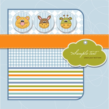 baby shower card Stock Vector - 11358682
