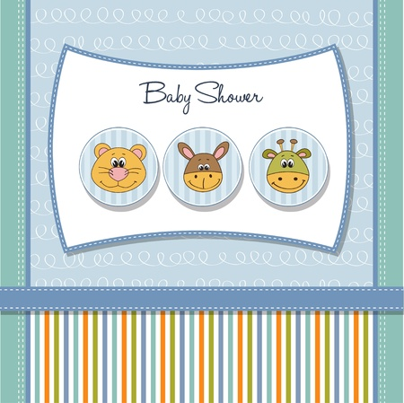 stripping: baby shower card  Illustration