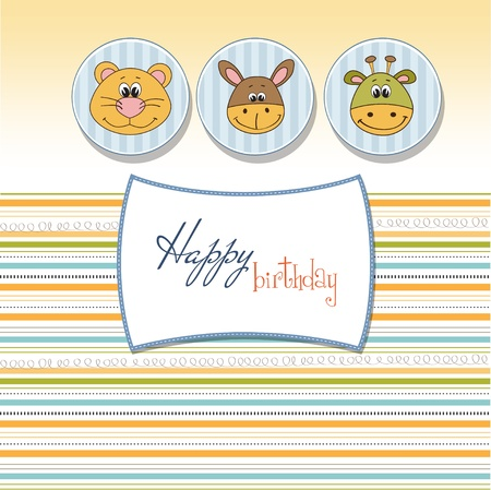 baby shower card  Stock Vector - 11358754