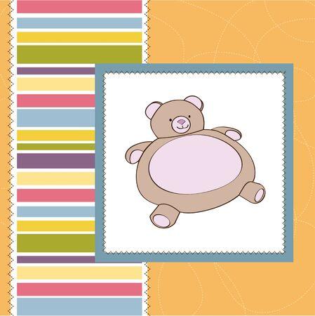 happy birthday girl: baby shower card with teddy
