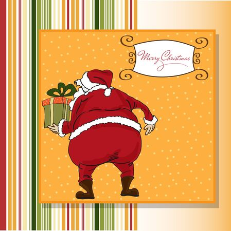 Christmas greeting card with Santa  Vector