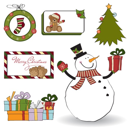 Christmas decoration elements set Stock Vector - 11358823