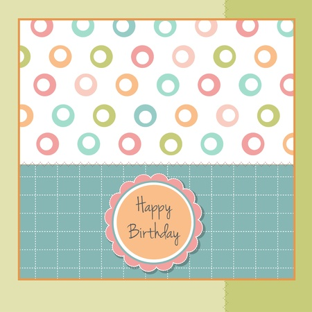 greeting card template design Vector