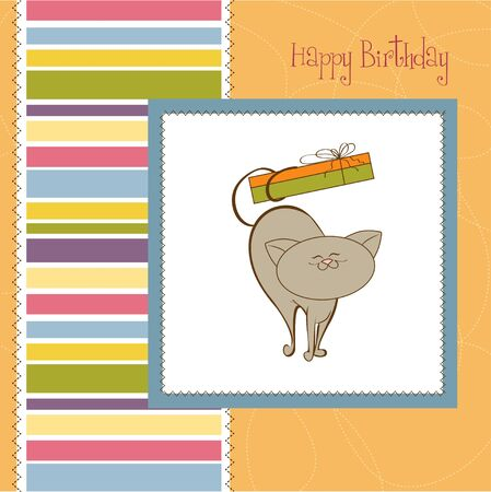 special gift card with cat  Stock Vector - 11560883