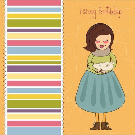 happy birthday greeting card Stock Vector - 11560879
