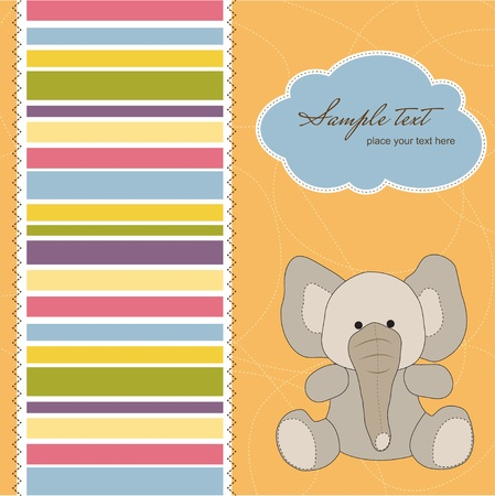 stripping: welcome baby card with elephant