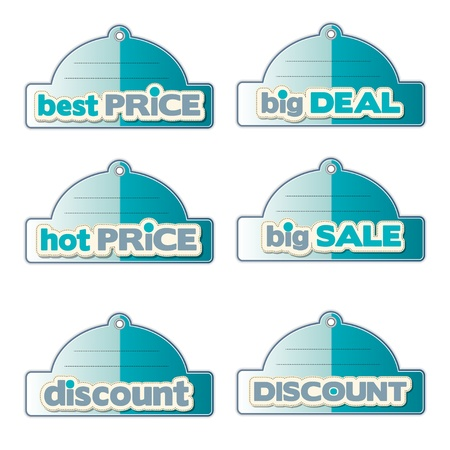promotional labels set  Stock Vector - 11489704