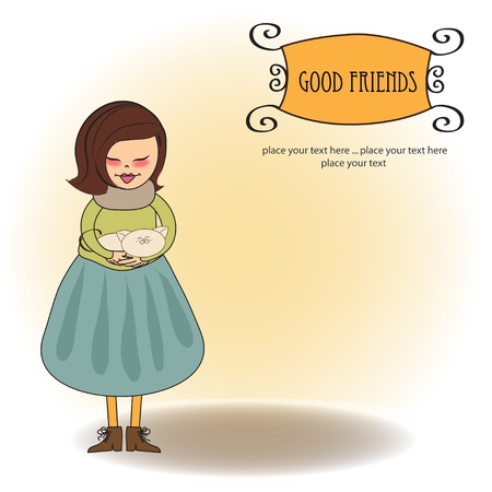 good friends greeting card  Illustration