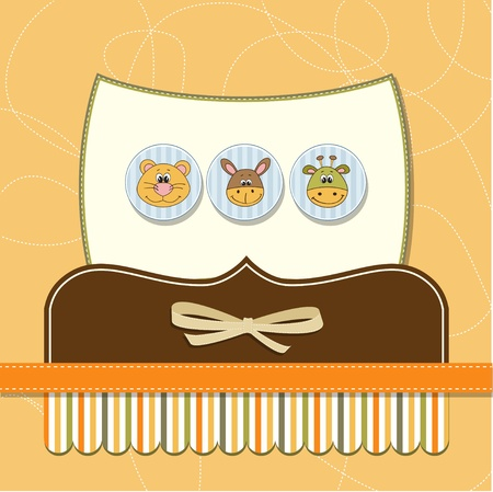 baby shower card  Illustration