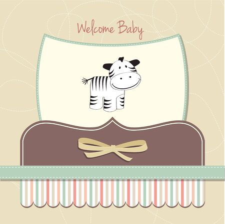 delicate baby girl shower card  Vector