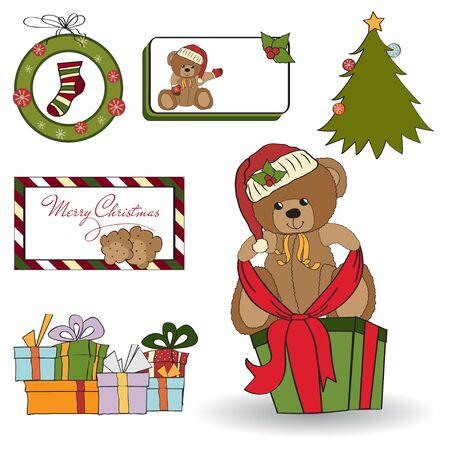 Christmas decoration elements set  Vector