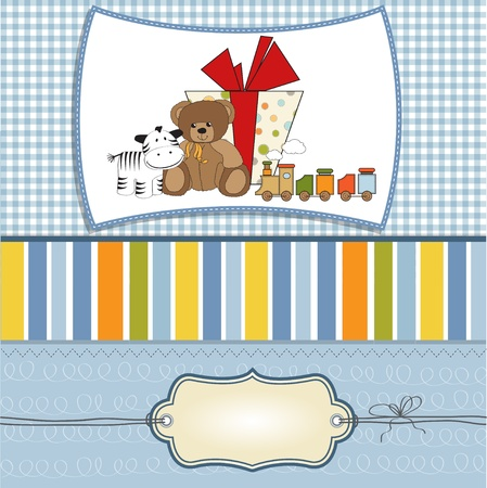 birthday greeting card with presents  Vector