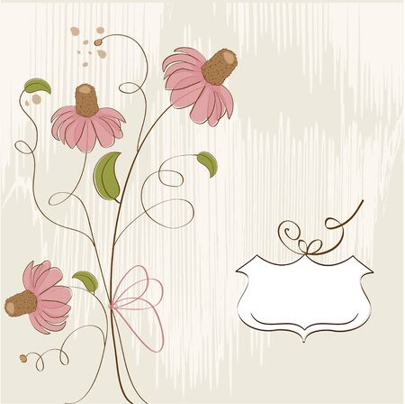 customizable floral background  Vector