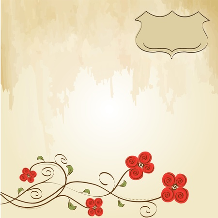 customizable floral background Stock Vector - 11497806