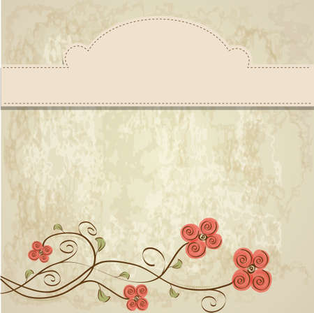 customizable floral background Stock Vector - 11497842