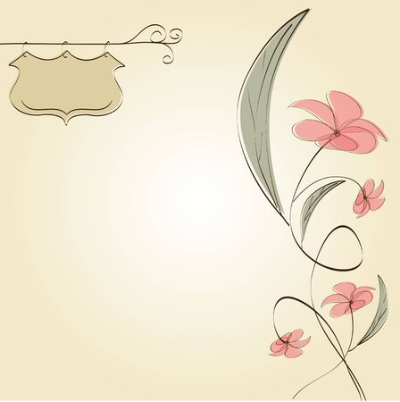 customizable floral background Stock Vector - 11489737