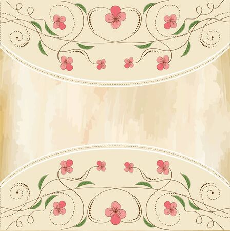 customizable floral background  Stock Vector - 11497816