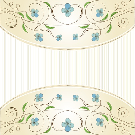 customizable floral background Stock Vector - 11497812