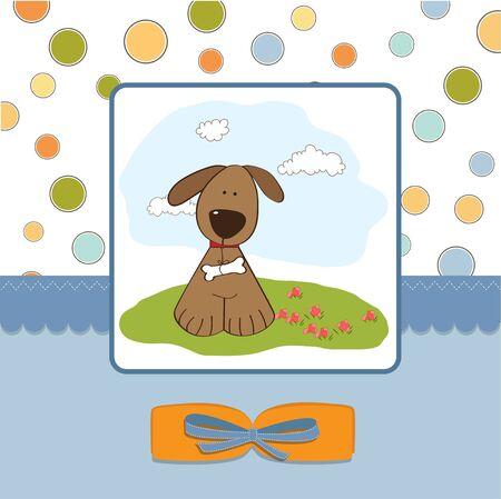 cute little boy: romantic baby shower card