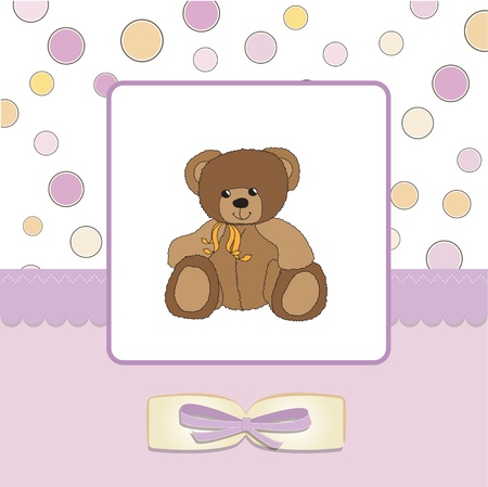baby greeting card with sleepy teddy bear Stock Vector - 11497817
