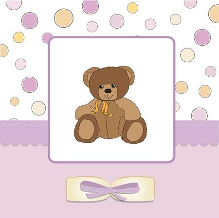 baby greeting card with sleepy teddy bear Stock Vector - 11497817