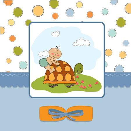turtles love: funny baby shower card