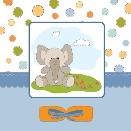 romantic baby shower card  Vector