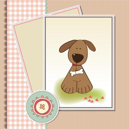 romantic baby shower card Stock Vector - 11497794