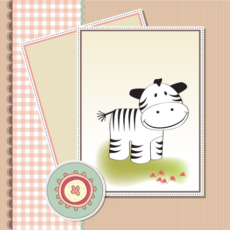 cute baby shower card with zebra Stock Vector - 11497796