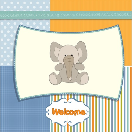new baby arrived card  Vector