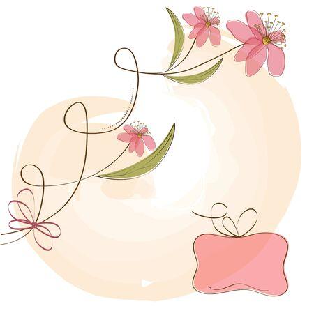 messages: vector floral background