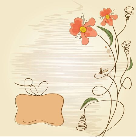 vector floral background Stock Vector - 11842035