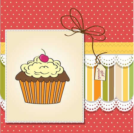 Birthday cupcake  Stock Vector - 11842076